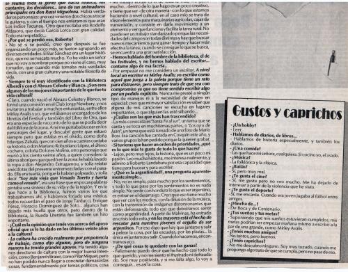 Entrevista Roberto Ledesma 1995