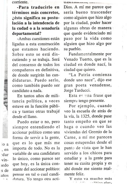 Opinión de Julio Eggimann 1994
